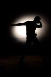 силуэт диско танцора Стоковое фото RF