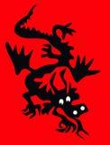 силуэт дракона Стоковая Фотография