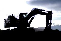 силуэт землекопа Стоковые Изображения RF