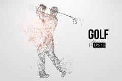 Силуэт игрока гольфа также вектор иллюстрации притяжки corel Стоковые Изображения