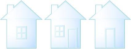 силуэт изолированный домом установленный Стоковые Изображения RF