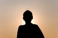Силуэт индийской женщины Стоковые Изображения RF