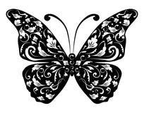 силуэт конструкции бабочки вы Стоковое фото RF