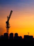 Силуэт крана башни Стоковые Изображения RF