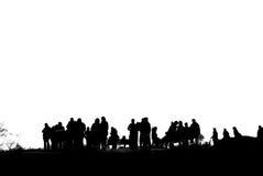 Силуэт людей Стоковое Изображение RF