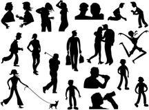 силуэт людей Стоковое фото RF