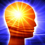 Силуэт людской головки Стоковая Фотография RF