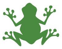 силуэт лягушки зеленый иллюстрация вектора