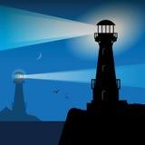 Силуэт маяка иллюстрация штока