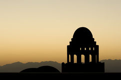 Силуэт мечети Стоковое Изображение RF
