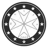 силуэт монетки мальтийсный Стоковое Изображение