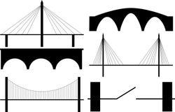 силуэт моста иллюстрация вектора