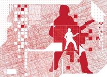 силуэт музыканта Стоковое Изображение RF