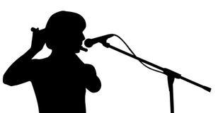 силуэт музыканта Стоковое фото RF