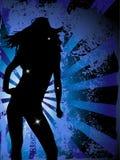 силуэт партии девушки Стоковое Изображение RF