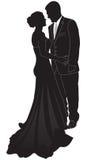силуэт пар официально Стоковые Фото