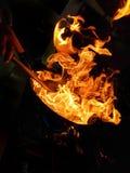 Силуэт пламени в местной кухне в Испании стоковое изображение rf