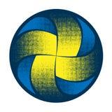 Силуэт полутоновых изображений волейбола абстрактный стоковое фото rf