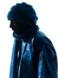 Силуэт портрета Туареги человека Стоковые Фотографии RF