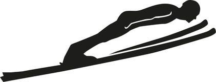Силуэт прыжков с трамплина Стоковые Фото