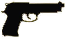 Силуэт пушки Стоковое Изображение