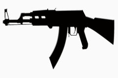 силуэт пушки Стоковая Фотография