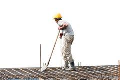 Силуэт рабочий-строителя стоковое изображение