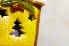 Силуэт рождественской елки на игрушке Стоковое Фото