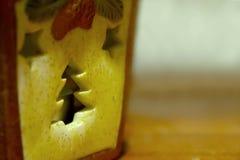 Силуэт рождественской елки на игрушке Стоковые Фотографии RF