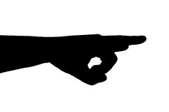 силуэт руки жеста Стоковая Фотография