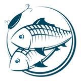 Силуэт рыб и приманки бесплатная иллюстрация