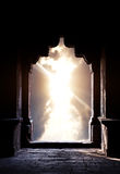 Силуэт свода на заходе солнца Стоковые Изображения