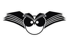 силуэт сыча логоса Стоковая Фотография RF
