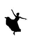 силуэт танцора стоковые изображения rf