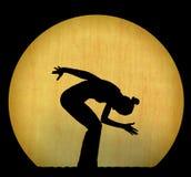 силуэт танцульки Стоковое Изображение
