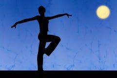 силуэт танцульки Стоковые Фото
