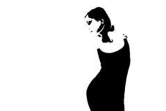 силуэт танцульки Стоковая Фотография
