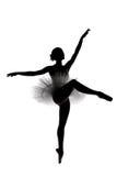силуэт тени 7 балерин красивейший Стоковое фото RF