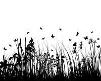 силуэт травы Стоковое Фото