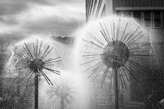 Силуэт фонтана в Дрездене Стоковое Фото