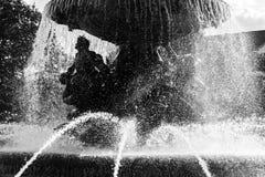 Силуэт фонтана в Дрездене Стоковое фото RF