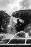 Силуэт фонтана в Дрездене Стоковое Изображение RF