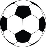 силуэт футбола иллюстрация штока