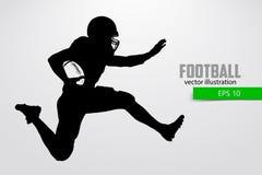 Силуэт футболиста также вектор иллюстрации притяжки corel Стоковое Изображение