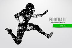 Силуэт футболиста также вектор иллюстрации притяжки corel Стоковое Изображение RF