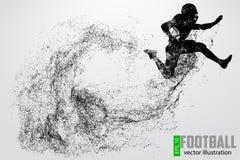 Силуэт футболиста также вектор иллюстрации притяжки corel Стоковые Изображения RF