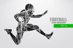 Силуэт футболиста также вектор иллюстрации притяжки corel Стоковые Фото