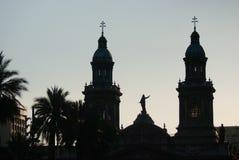Силуэт церков верхний стоковые изображения rf