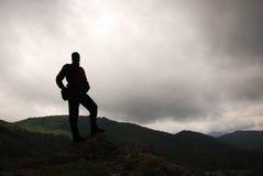 Силуэт человека Стоковое Изображение RF