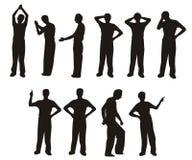 силуэт человека Стоковые Фотографии RF
